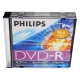 Диск DVD-R Philips 4.7 ГБ 16х 5 штук Slim Case